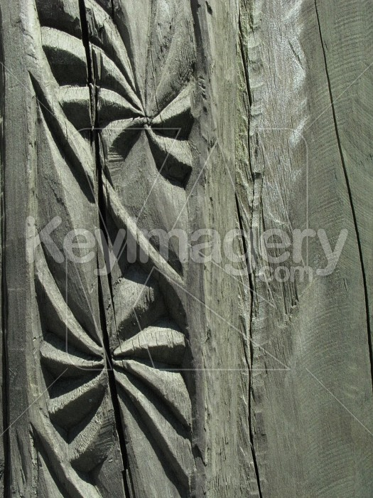 Pattern carved into wood Photo #6524