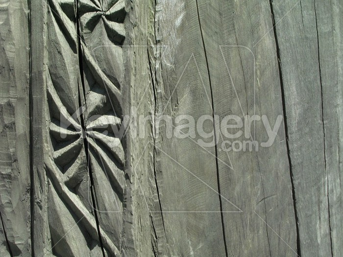 Patterned carved into wood Photo #6525
