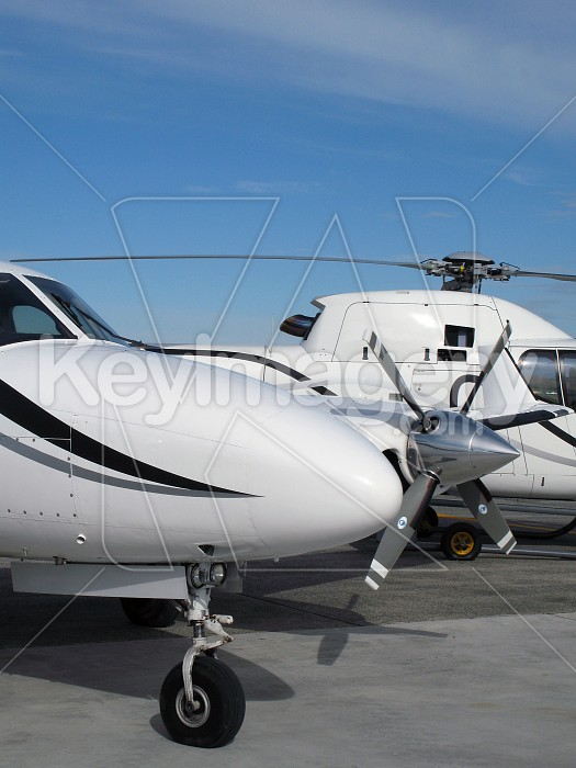 Private jet and helicopter Photo #4184