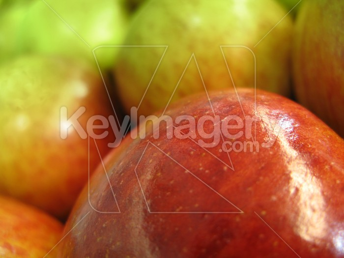 Red apples with a green lens filter Photo #1291