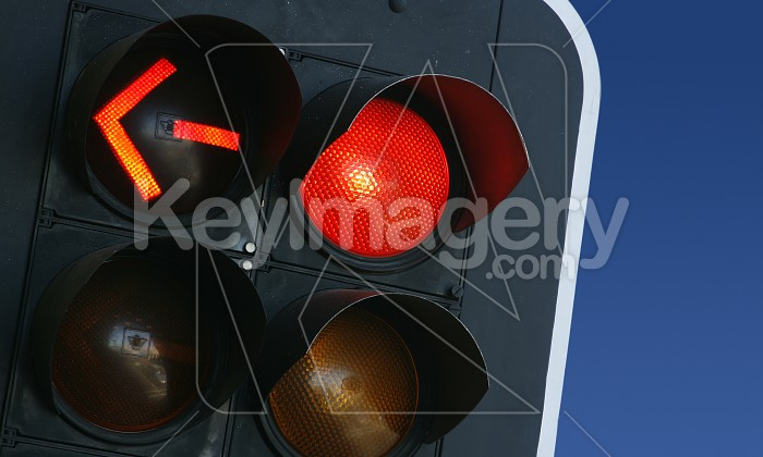 Red Traffic Light & Arrow Photo #4423