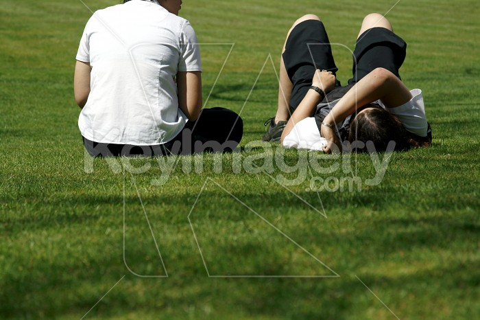 Relaxing in the sun on the grass Photo #4547