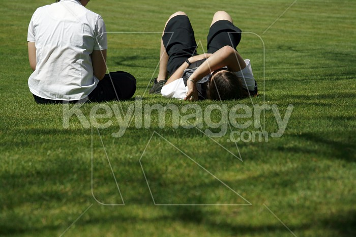 Relaxing in the sun on the grass Photo #4548