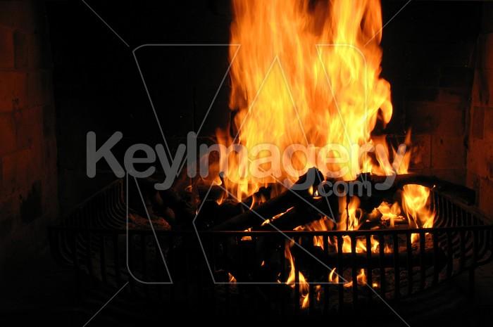 Roaring fireplace Photo #4959