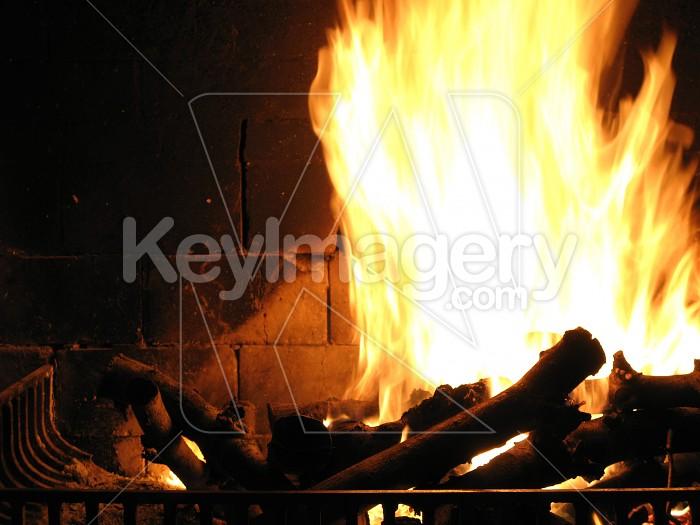 Roaring fireplace Photo #4960