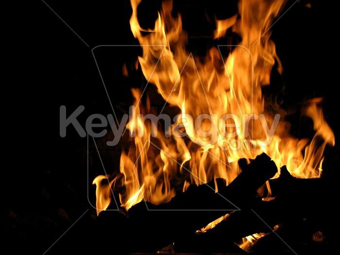 Roaring fireplace Photo #4961