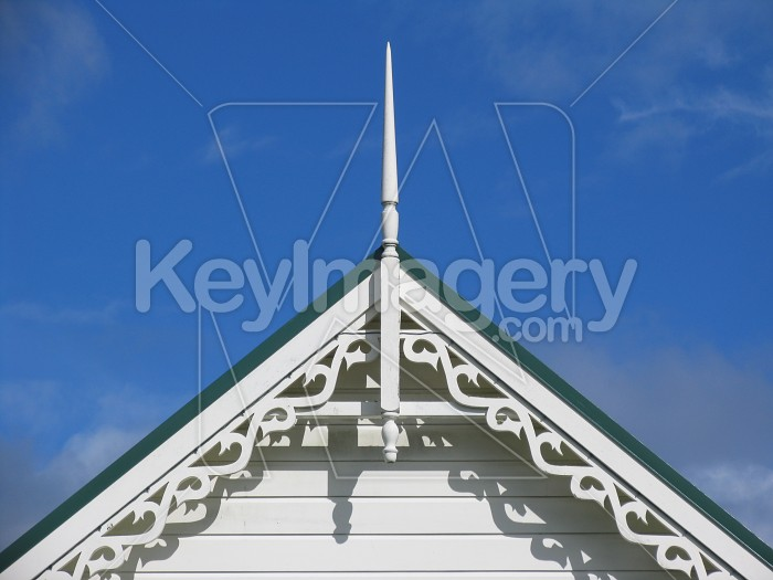 Roof apex on a colonial style building Photo #510