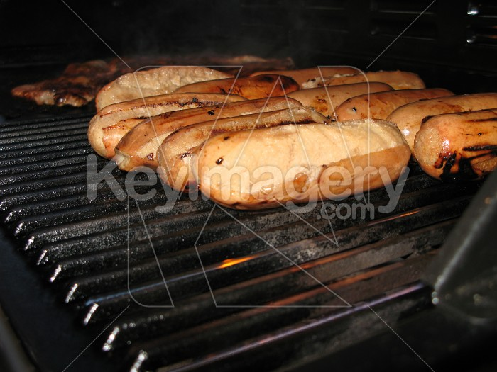 Sausages & Steak on the BBQ Photo #508