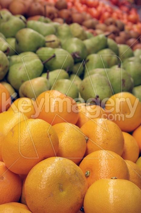 Stacked colourful fruit  Photo #4023