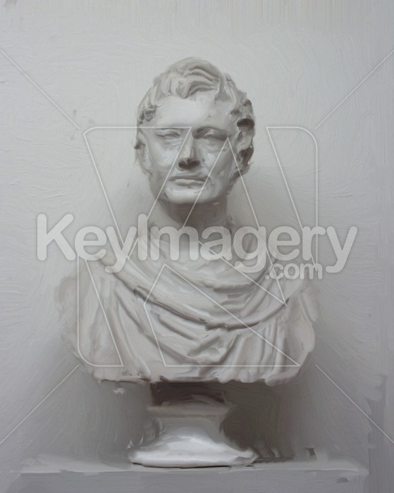Statue Head & Shoulders (oil painting) Photo #2543