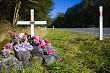 Road Fatality Roadside Cross