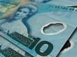 New Zealand 10 notes close up