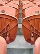 Rows of seats at a stadium