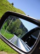 Country scene in the side mirror