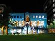 Hamilton City Library at night