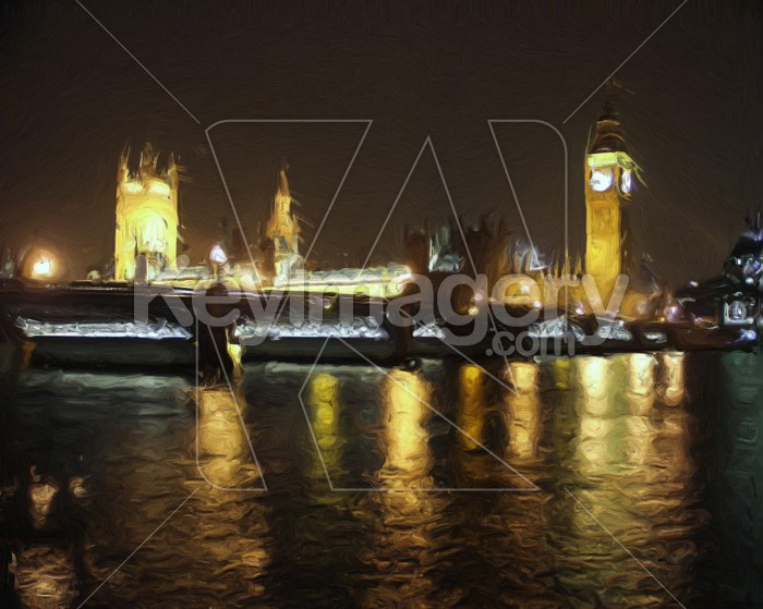 The Houses of Parliament (oil painting) Photo #2533