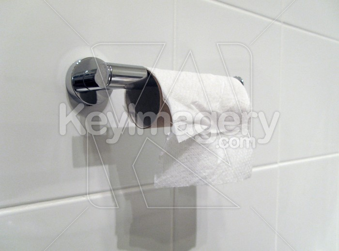 Toilet Paper or Tissue on the Holder Photo #1745