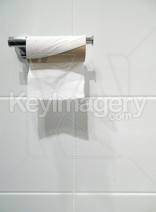 Toilet Paper or Tissue on the Holder Photo #1748