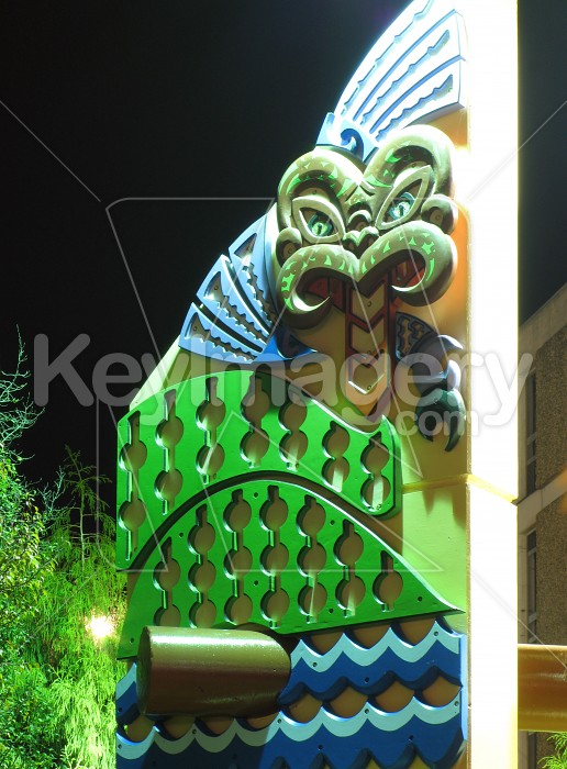 Town centre artwork in Rotorua Photo #1460