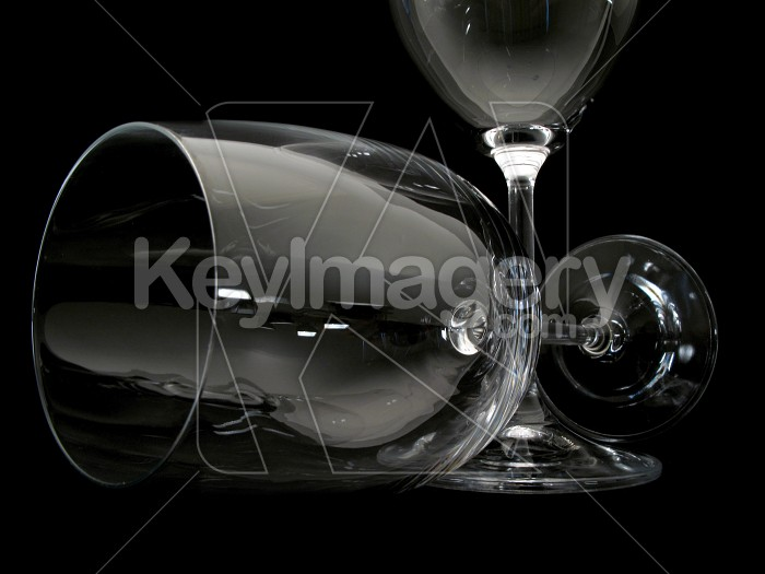 Two wine glasses - one lying down Photo #2307