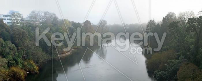 Waikato River in the fog Photo #2000