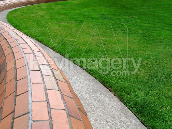 Grass/concrete edge Photo #535