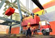 Logistics port and crane