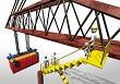 Logistics container and crane