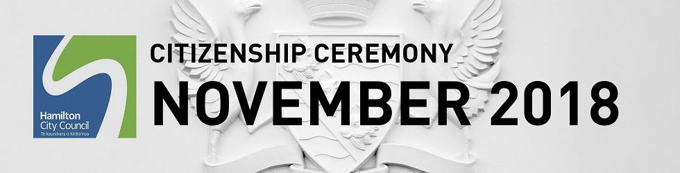 HCC NZ Citizenship Ceremony (Nov 2018)