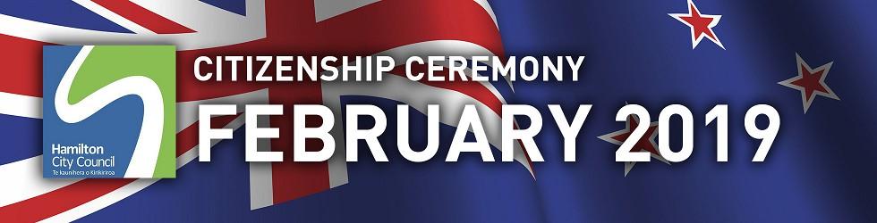 HCC NZ Citizenship Ceremony (Feb 2019)
