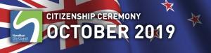 HCC NZ Citizenship Ceremony (October 2019)