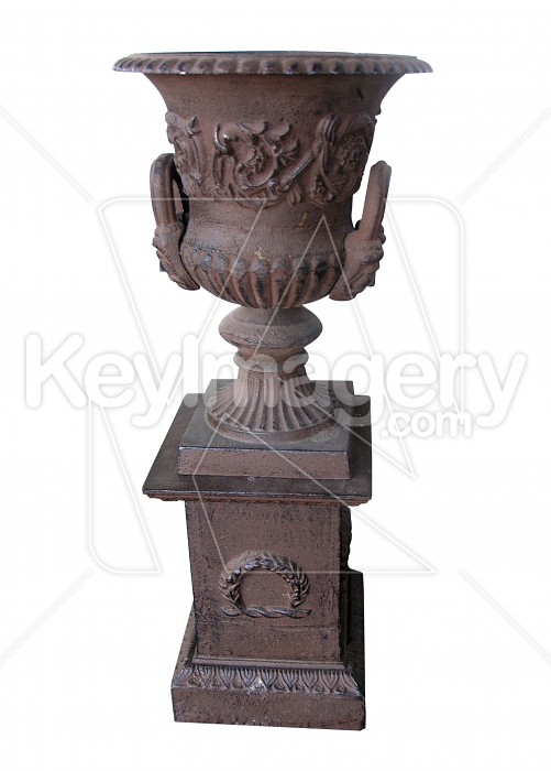 Antique Brass Pot on a Stand Photo #13094