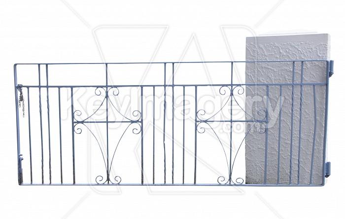 Blue Wrought Iron Gate  Photo #6189