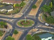 Roundabout with Santa Decoration
