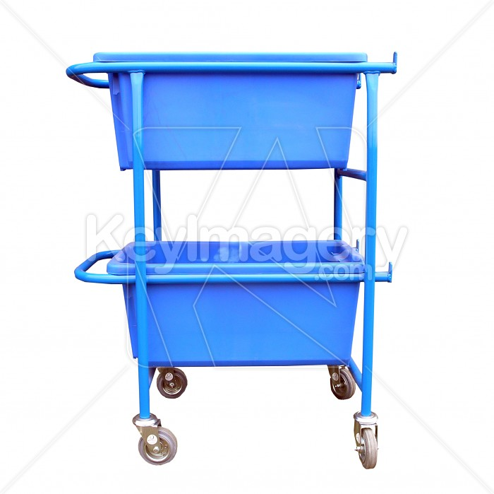 Two Blue Containers Incorporated in a trolley Photo #6190