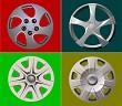 Decorative car wheel covers. Plate. Vector illustration