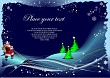 Blue winter background with Santa image