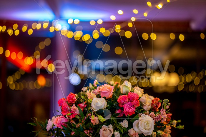Bridal flowers bouquet on colorful light background Photo #61752