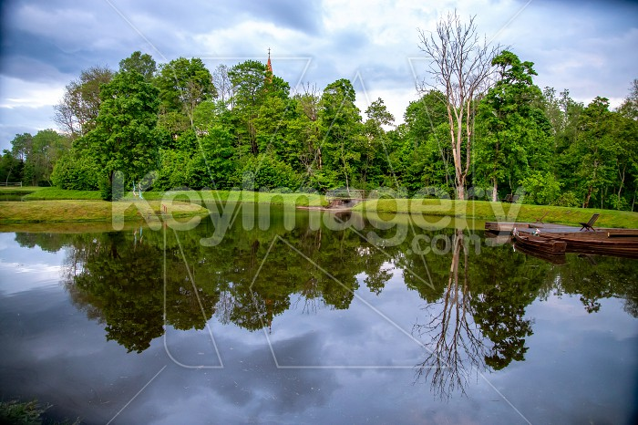 Landscape with pond and trees Photo #61743