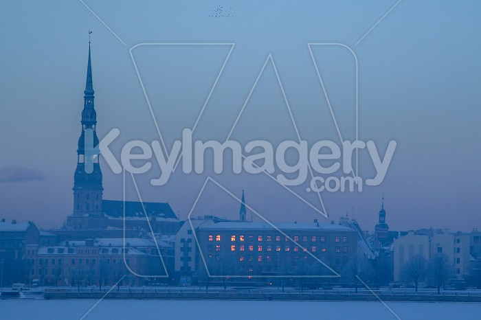 Panorama of Riga in winter time. Photo #60487