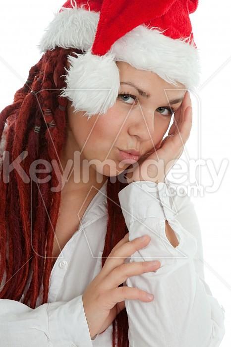 Portrait of young modern christmas girl. Photo #44942