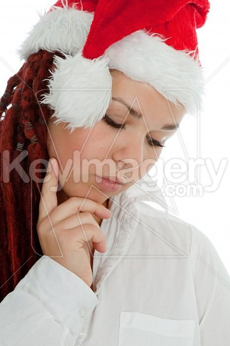 Portrait of young modern christmas girl. Photo #44944