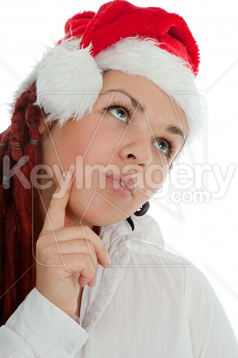 Portrait of young modern christmas girl. Photo #44945