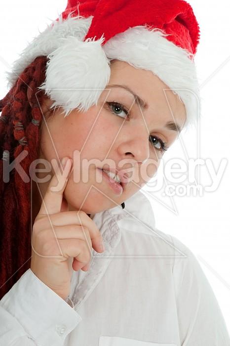 Portrait of young modern christmas girl. Photo #44946