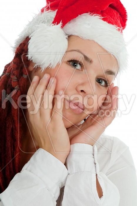 Portrait of young modern christmas girl. Photo #44947