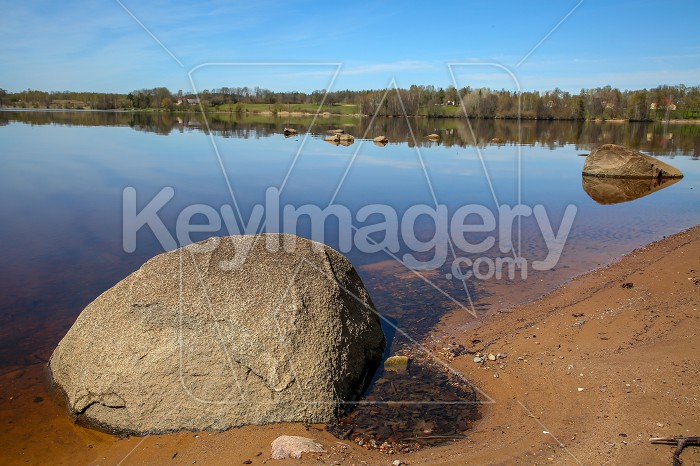 River landscape with big stones in Latvia. Photo #60700