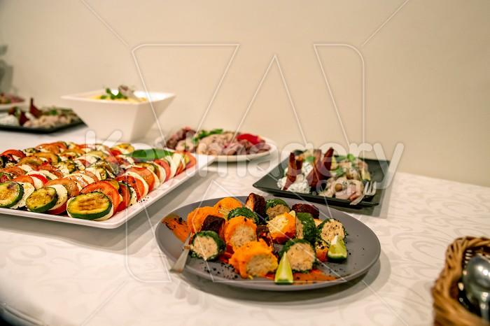 Snacks on the wedding table Photo #61742