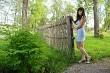 Rural scene with beauty girl.