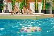 Relaxing in swimming-pool