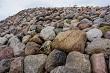 Stones in Koknese in the park Garden of Destinies in Latvia.